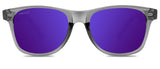 Abaco Laguna Crystal Grey Sunglass Polarized Purple Mirror Lens Front