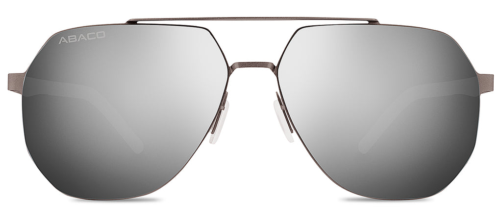 Abaco Monaco Gunmetal Stainless Steel Sunglasses Polarized Silver Flash Lens Side