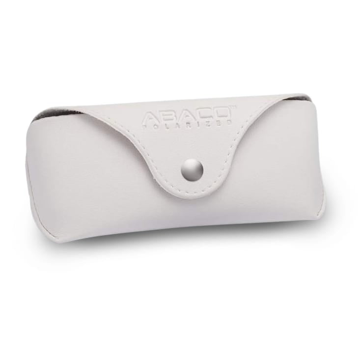 White Leather Sunglass Case