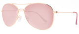 Abaco Avery Rose Gold Sunglass Rose Gold Polarized Lens Side