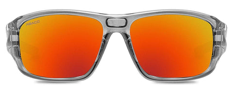 Abaco Radman Translucent Grey Sunglass Polarized Fire Mirror Lens Front