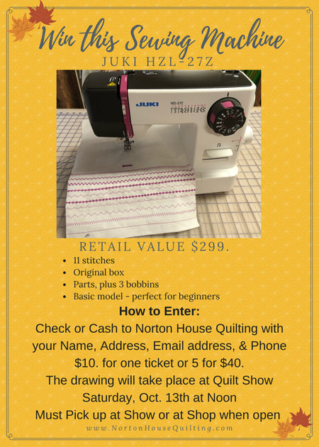 Win this Sewing Machine! (no joke)