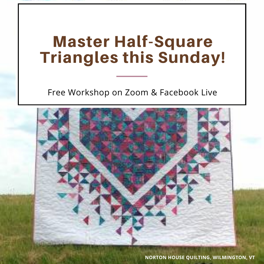 Master Half-Square Triangles this Sunday! (March 14, 2021)