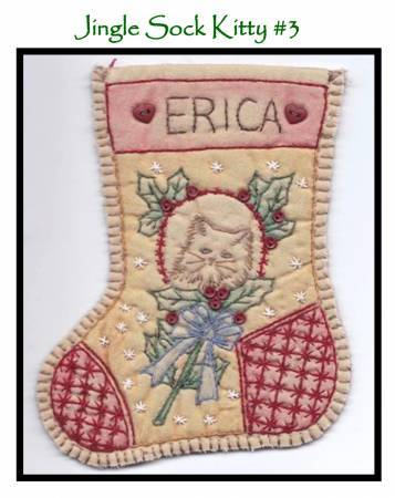 Jingle Sock Kitty - Pre Stamped Projects