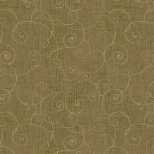 Whimsey Basic Swirls - Henry Glass - 8945-66 - Olive