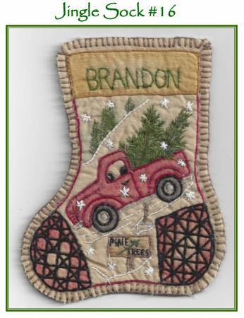 Jingle Sock Santa's Truck - Pre Stamped Projects