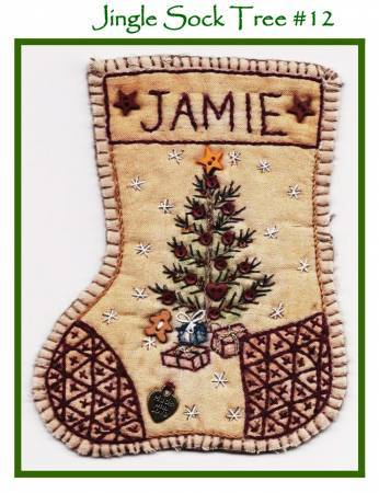 Jingle Sock Christmas Tree - Pre Stamped Projects
