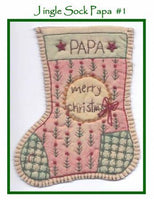 Jingle Sock Merry Christmas - Pre Stamped Projects