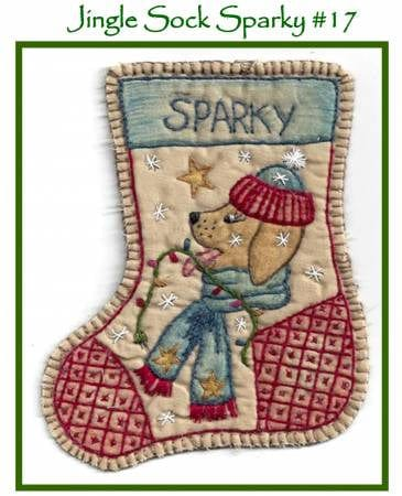 Jingle Sock Sparky - Pre Stamped Projects