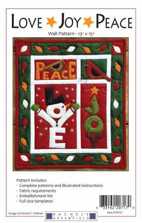 LOVE JOY PEACE Wall Quilt Pattern