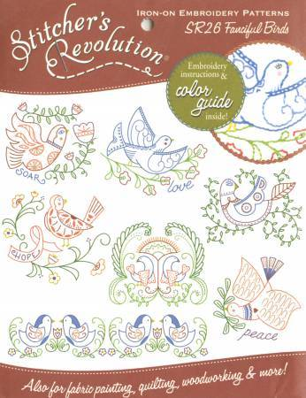 Aunt Martha's Stitcher's Revolution Fanciful Birds