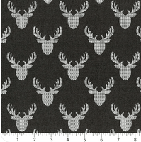 Reindeer Lodge - Charcoal Knit Look Deer - 21191705-2 - Camelot Design Studio