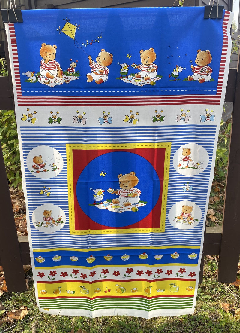 Blue Bears - Stoff Fabrics Panel