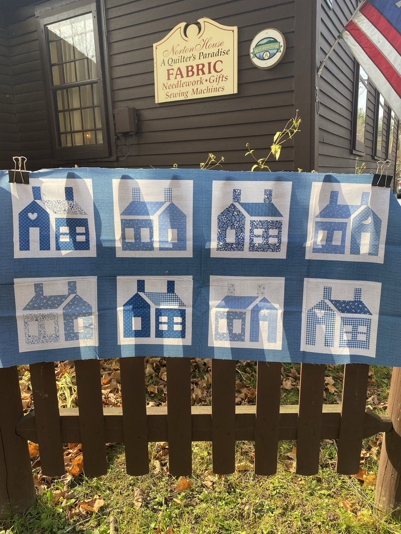 Little Blue Houses - Panel