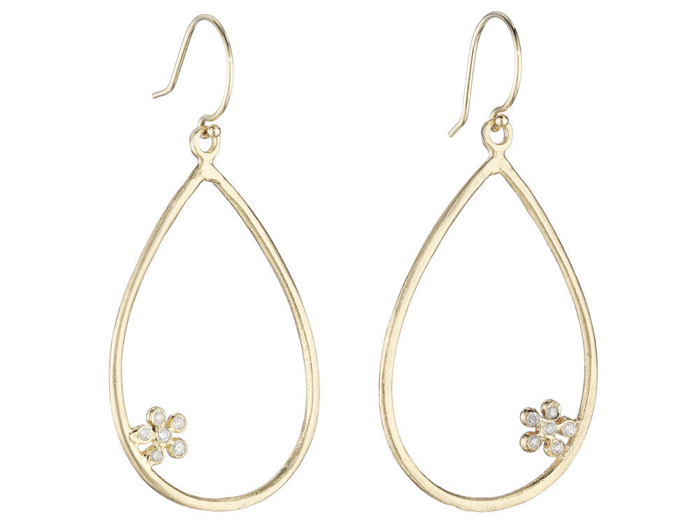 Buttercup Diamond Hoops - Lauren Sigman Collection