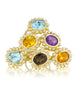 Poppy Diamond Ring/Blue Topaz - Lauren Sigman Collection