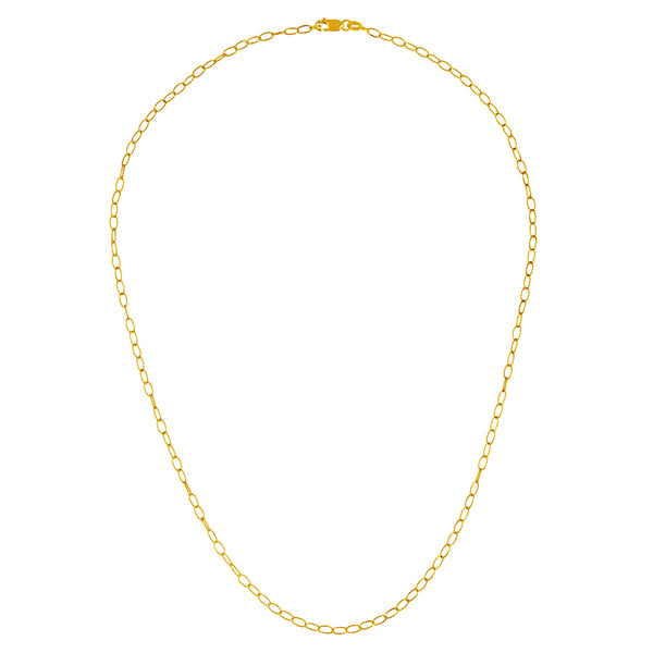 Textured Oval Link Chain - Lauren Sigman Collection