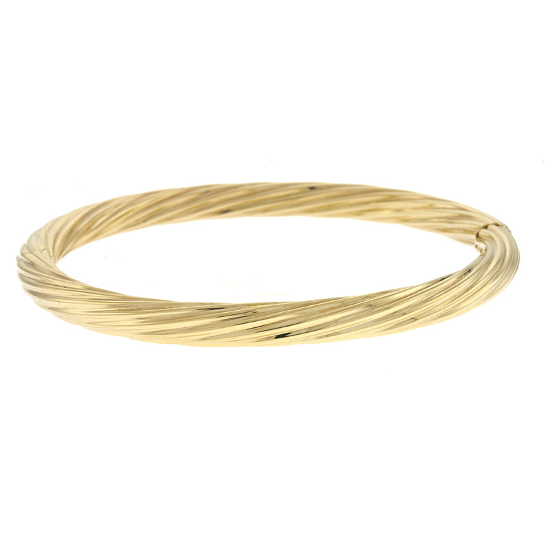 Twisted Hinged Bangle - Lauren Sigman Collection
