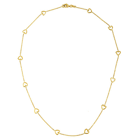 Open Heart Station Necklace - Lauren Sigman Collection