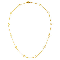 Open Flower Station Necklace - Lauren Sigman Collection