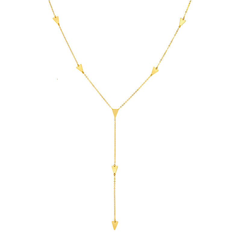 Y Triangle Necklace - Lauren Sigman Collection