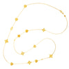 "Hearts & Flowers Station Necklace/36"" - Lauren Sigman Collection"