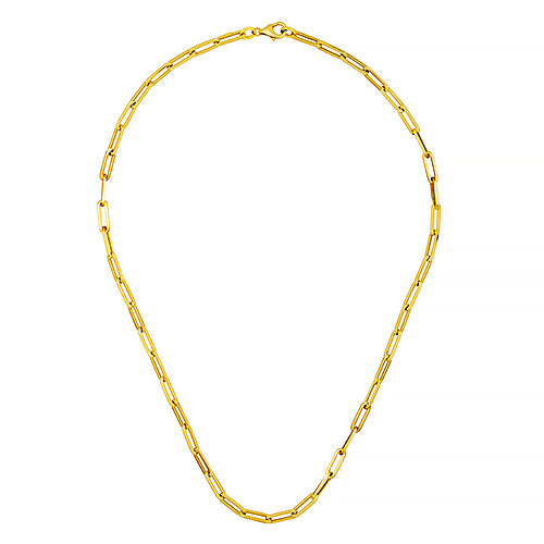 Paper Clip Link Chain - Lauren Sigman Collection