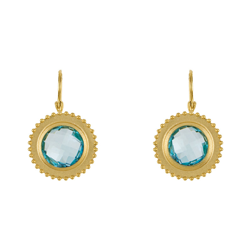 Sunburst Earrings in Blue Topaz - Lauren Sigman Collection