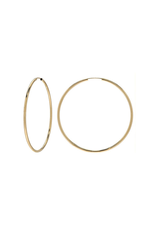 Gold Medium Endless Hoops - Lauren Sigman Collection