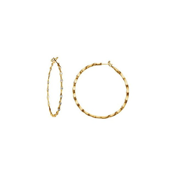 Diamond Inside Out Hoops - Lauren Sigman Collection