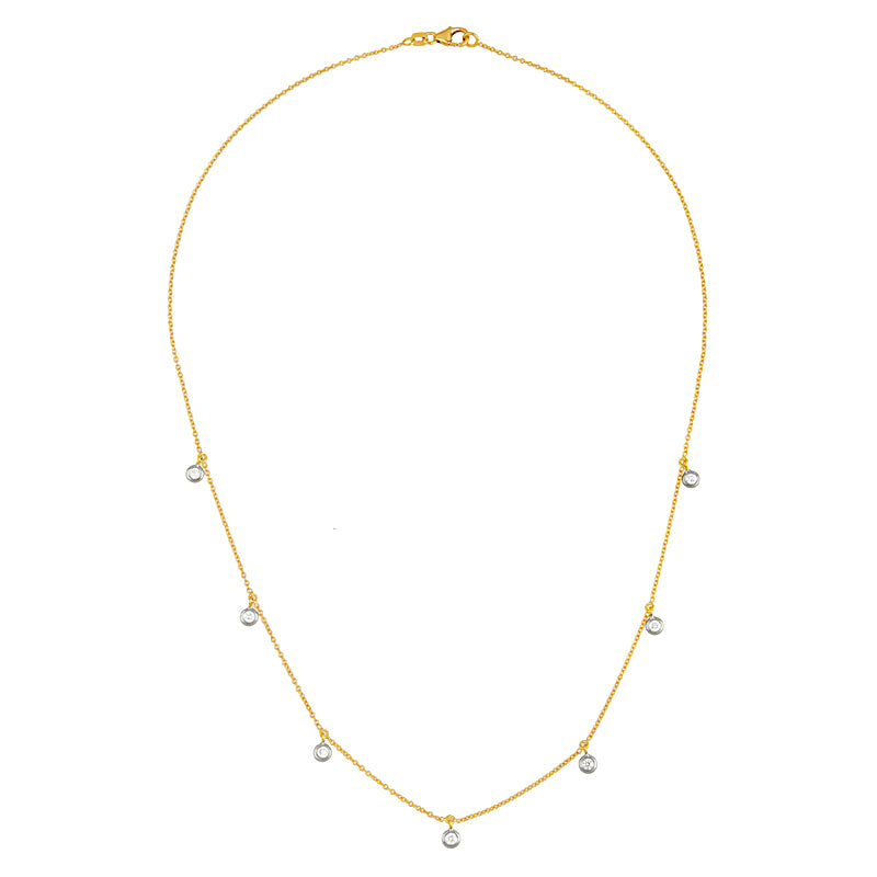 Confetti Diamond Necklace in 18K Gold - Lauren Sigman Collection
