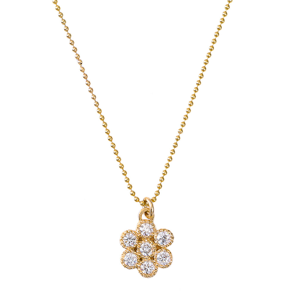 Water Lily Diamond Necklace - Lauren Sigman Collection