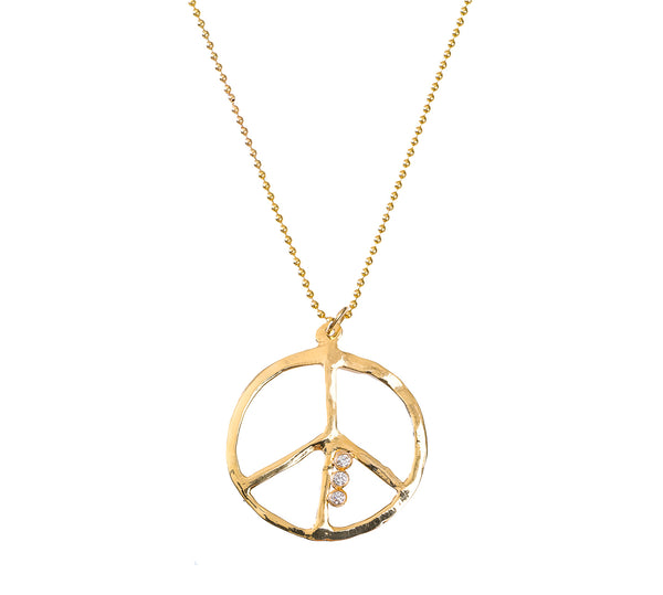 Triple peace Sign necklace - Lauren Sigman Collection