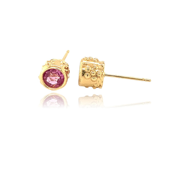 Pink Sapphire Stud Earrings - Lauren Sigman Collection