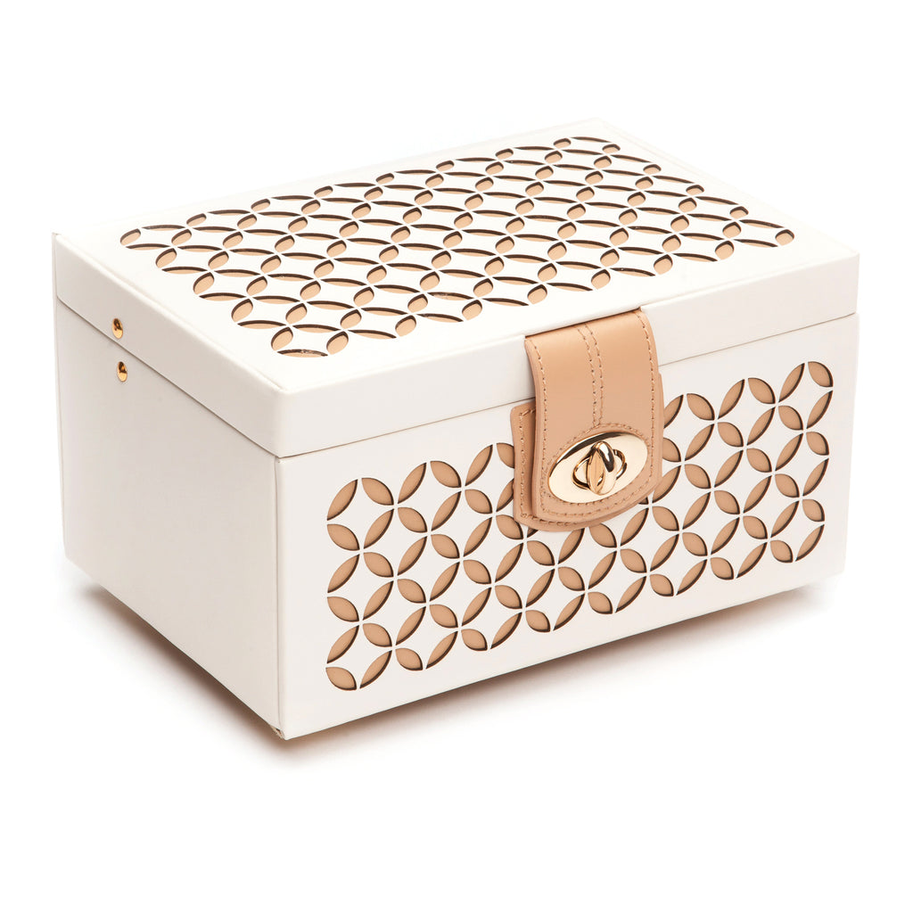 Chloé Small Jewelry Box (Cream) - Lauren Sigman Collection