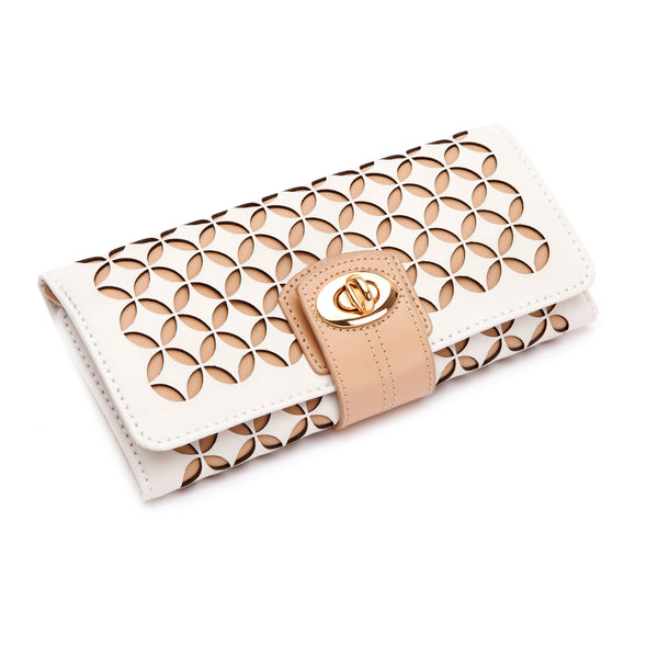 Chloé Jewelry Roll (Cream) - Lauren Sigman Collection