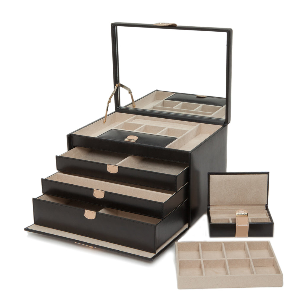 Chloé Large Jewelry Box (Black) - Lauren Sigman Collection