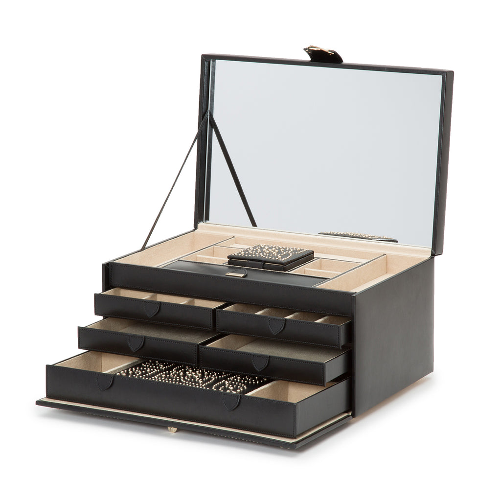 Marrakesh Large Jewelry Box (Black) - Lauren Sigman Collection