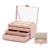 Caroline Large Jewelry Case (Rose Quartz) - Lauren Sigman Collection