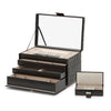 Caroline Large Jewelry Case (Black) - Lauren Sigman Collection