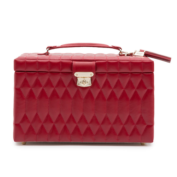 Caroline Large Jewelry Case (Red) - Lauren Sigman Collection