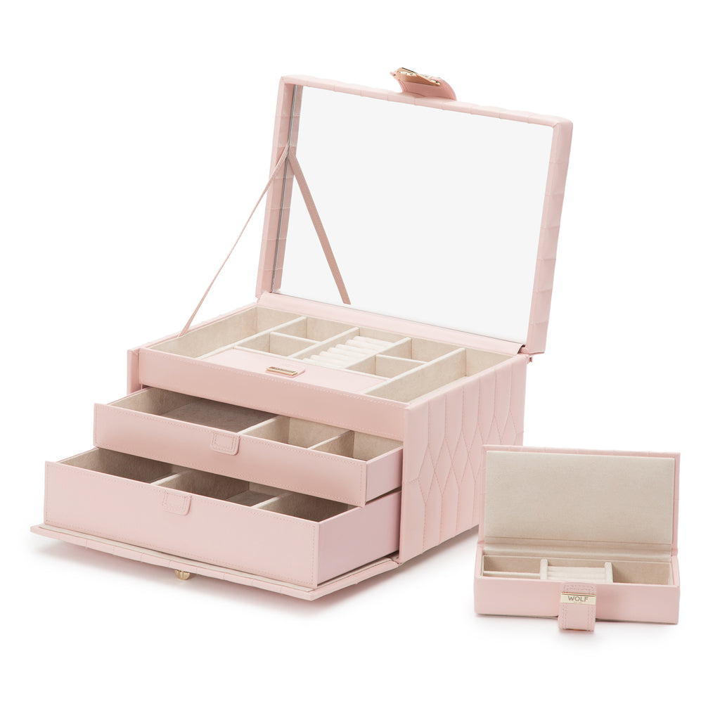 Caroline Medium Jewelry Case (Rose Quartz) - Lauren Sigman Collection