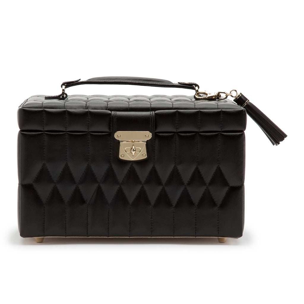 Caroline Medium Jewelry Case (Black) - Lauren Sigman Collection