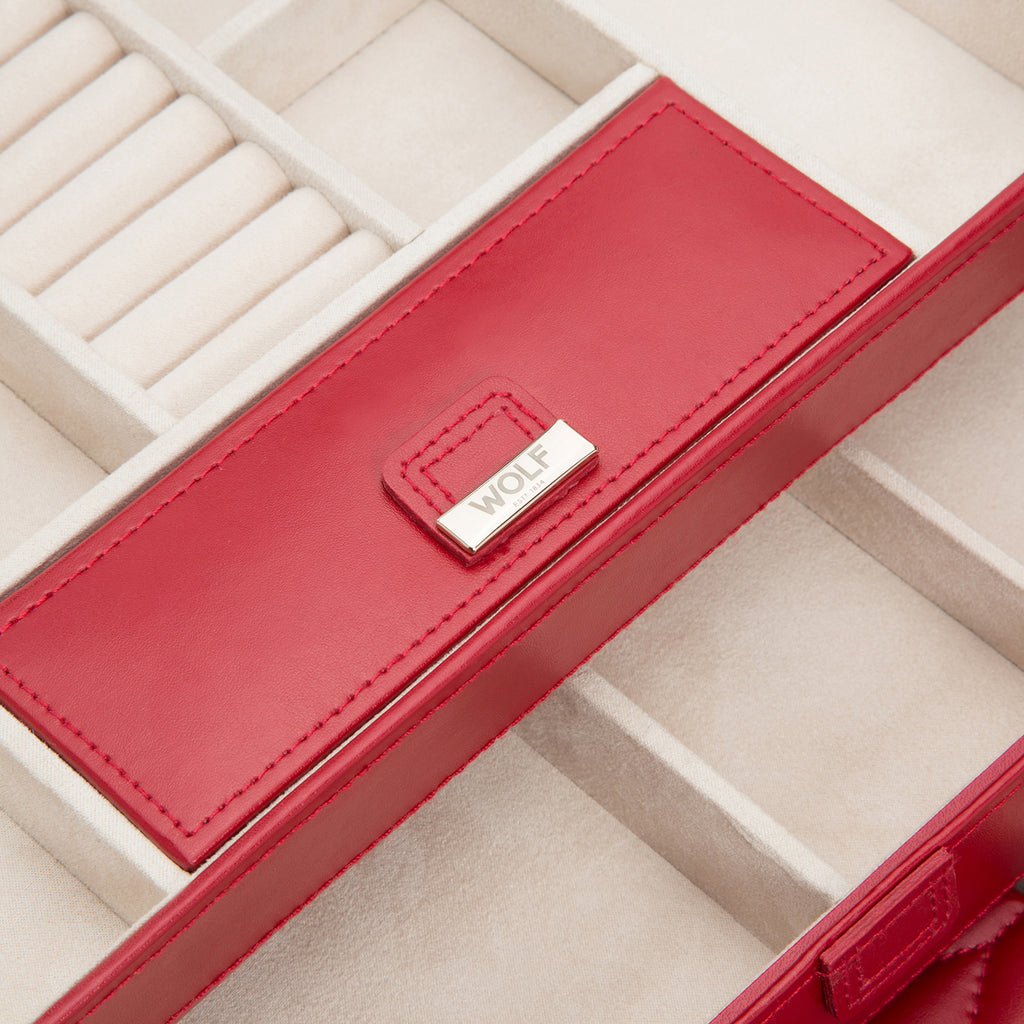 Caroline Medium Jewelry Case (Red) - Lauren Sigman Collection