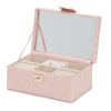 Caroline Small Jewelry Case (Rose Quartz) - Lauren Sigman Collection