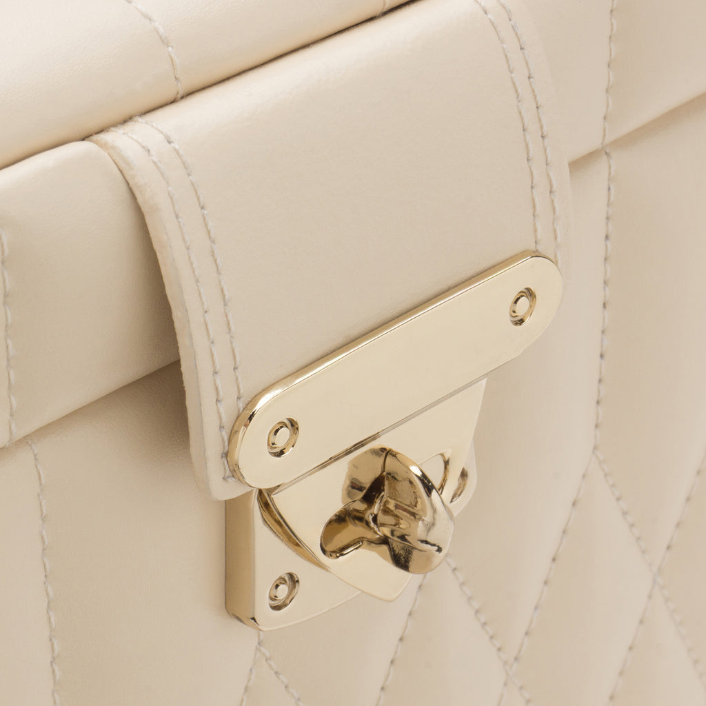 Caroline Small Jewelry Case (Ivory) - Lauren Sigman Collection