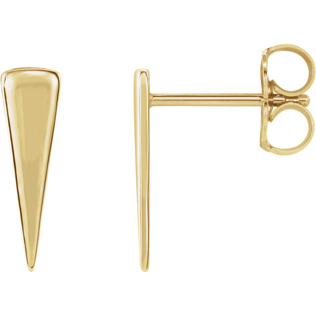 Long triangle studs - Lauren Sigman Collection