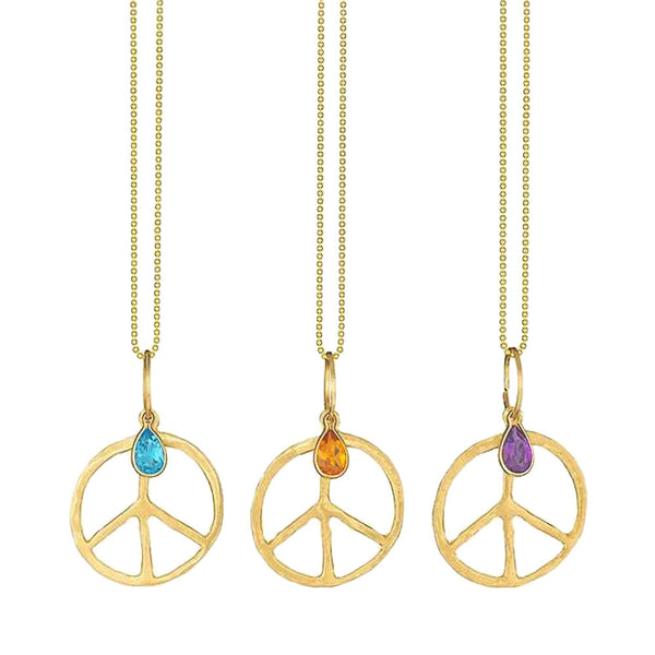 Gemstone Peace Necklace by LSJ