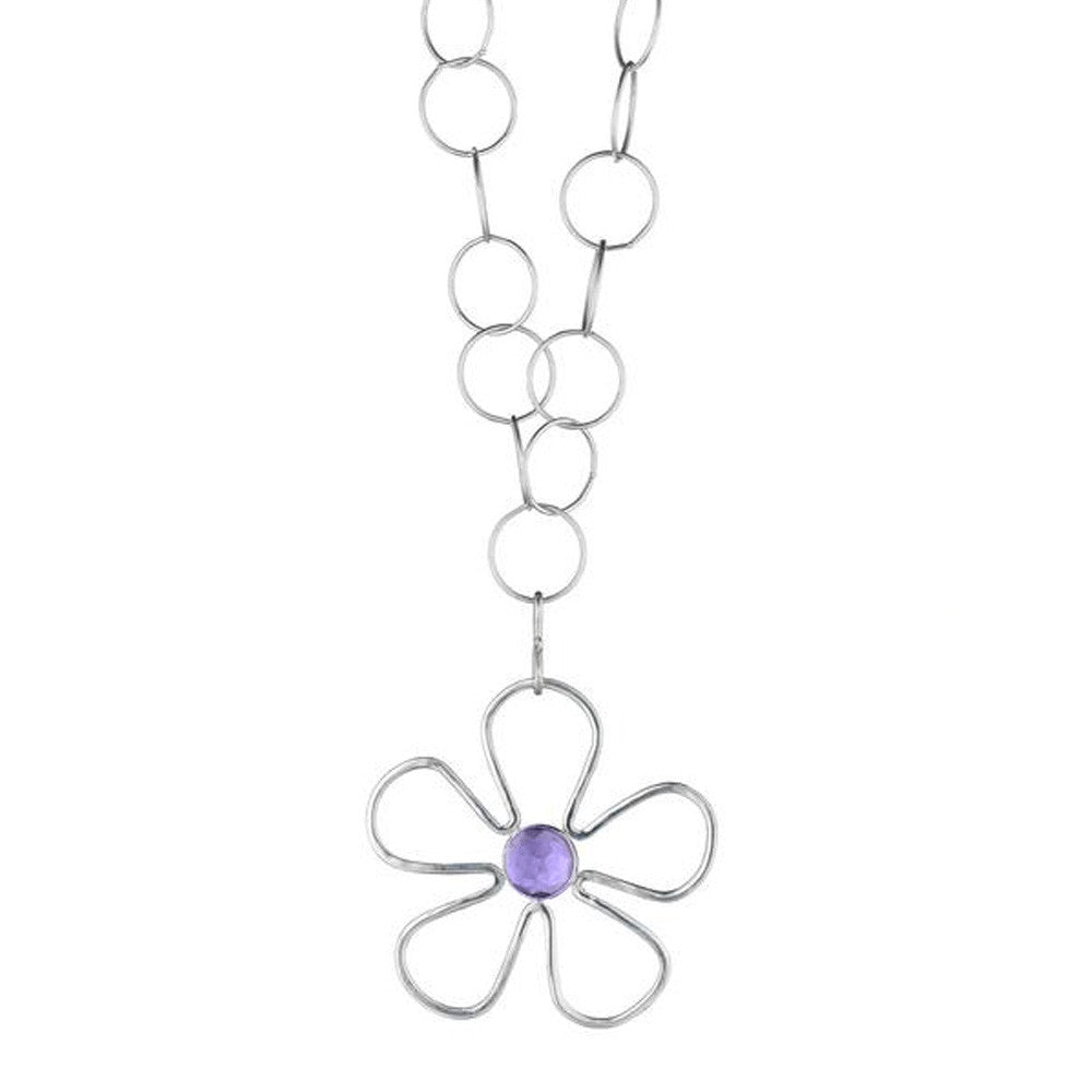 Long Sunflower Amethyst Necklace - Lauren Sigman Collection