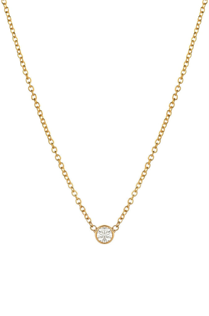 Diamond Bezel Necklace - Lauren Sigman Collection